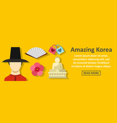 Amazing korea banner horizontal concept vector