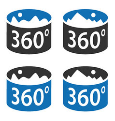 angle 360 degrees panorama view symbol vector image