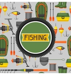 background with fishing supplies design vector image
