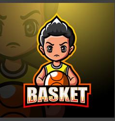 Basketball mascot esport logo design vector