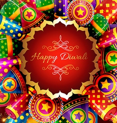 Beautiful background of diwali vector image vector image