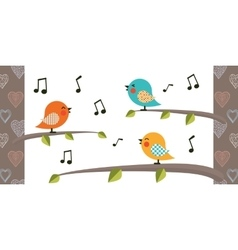 Bird cartoon character vector image
