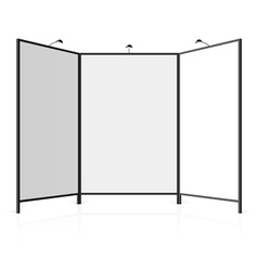 Blank exhibition stand vector image