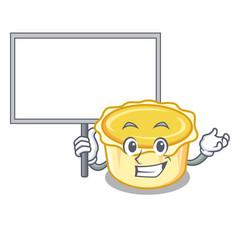 Bring board egg tart character cartoon vector