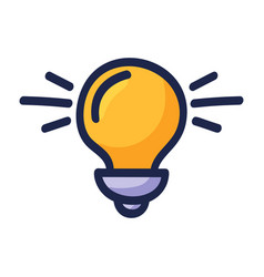 bulb light energy icon graphic design hand drawn vector image