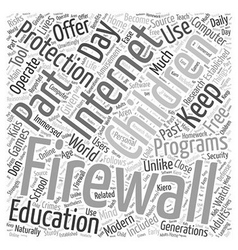 BWI about firewalls and free software Word Cloud vector