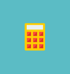 calculate icon flat element vector image