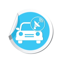 cars satelite BLUE LABEL vector image