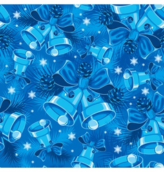 christmas bells seamless pattern vector image