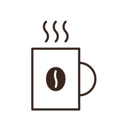 coffee mug isolated linear icon vector image