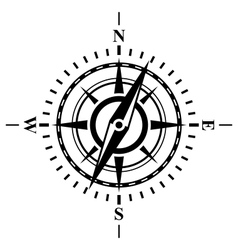 Compass with wind rose vector