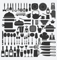 Cookware kitchen set vector