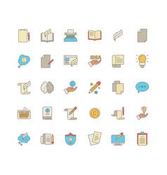 Copywriting symbols identity writers pen blog vector