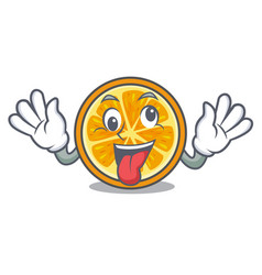 Crazy orange mascot cartoon style vector