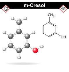 Cresol molecule vector