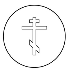 Cross eight-pointed of greek-catholic orthodox vector