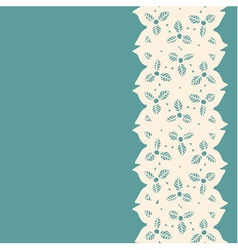 Decorative lacy border vector