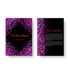 Design a brochure cover with flying confetti vector