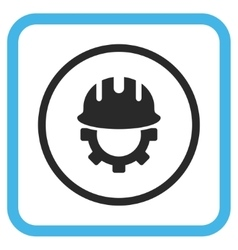Development Hardhat Icon In a Frame vector
