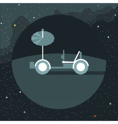Digital with moon rover vehicle icon vector