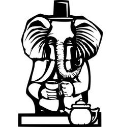 Elephant Tea Party vector image