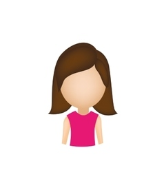 female avatar icon image vector image
