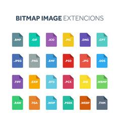 flat style icon set bitmap image file type vector image