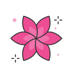 Floral or spa logo filled outline icon vector