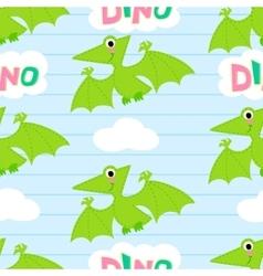 Flying dinosaur seamless pattern vector