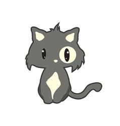 funny flat cat vector image