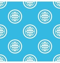 Global network sign blue pattern vector image