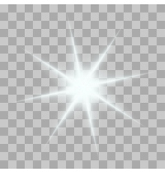 Glowing light bursts with sparkles on vector