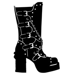 Goth boots vector