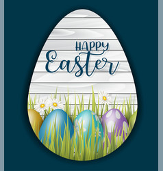 Happy easter design concept with painted 3d vector