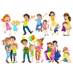 Happy families vector image