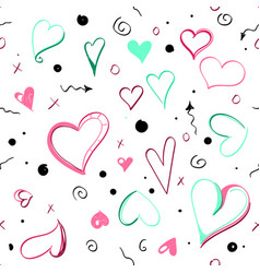 Heart is symbol love abstract valentines day vector