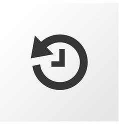 History icon symbol premium quality isolated vector