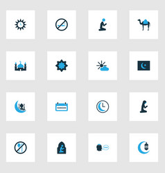 Holiday colorful icons set collection of dua vector