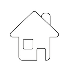home page web symbol thin line vector image