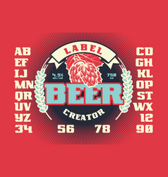 label beer creator vector image