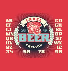 label beer creator vector image