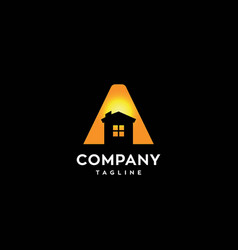 letter a house logo vector image