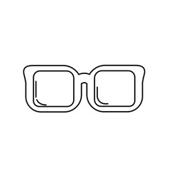 Line optical glasses to can see better vector