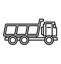 Loaded farm truck icon outline style vector