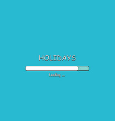 Loading holidays in comic style vector