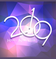 low poly happy new year background vector image