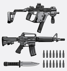 machine gun collection vector image