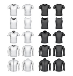 male t-shirts set vector image vector image