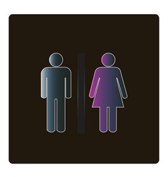 man and woman icon for toilet sign vector image