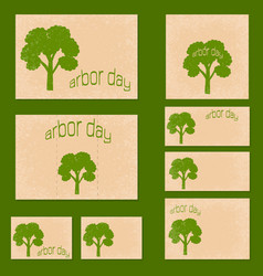 national arbor day template design set vector image